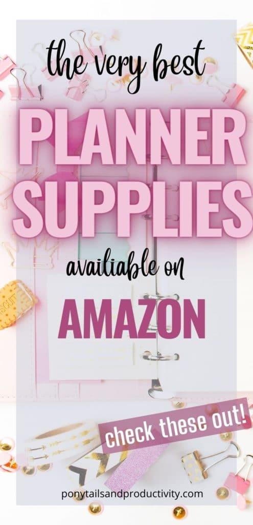planner supplies on amazon